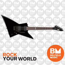 ESP LTD EX Series EX-401 FR Electric Guitar Explorer Black w/ EMGs Floyd Rose