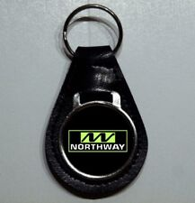 Reproduction Vintage Northway Logo Medallion Leather Keychain