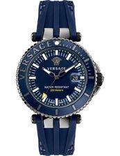 Versace Men 'V-Race' Swiss Quartz Stainless Steel & Silicone Blue VAK020016