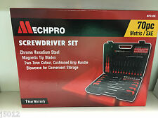 MECHPRO SCREWDRIVER SET 70 PIECES & CARRY CASE NEW MPS109K GREAT GIFT MECHANIC