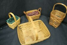 4 Assorted Longaberger Baskets -A17