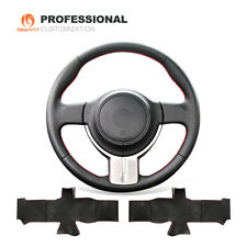 Black Leather Steering Wheel Cover for Scion FR-S FRS Subaru BRZ Toyota 86