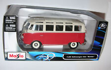 VW Bay Samba T1 Camper Campervan Maisto Blue 1 24 Scale Diecast Detailed Model