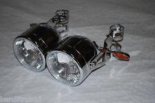 Twin Headlights & Brackets & Indicators GSF600 Bandit Fazer SV650 39-42mm Forks