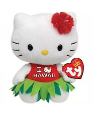 "TY BEANIE BABIES HELLO KITTY I lOVE HAWAII DRESS 6"" PLUSH STUFFED TOY"