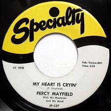 PERCY MAYFIELD & MAYTONES 45 My Heart Is Cryin You Were Lyin VG++ Doo Wop bb3468