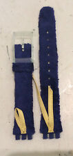 Swatch Lady cinturino pelle nuovo Cord on Blue strap ALG 114 mm 13,00