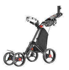 Caddytek Superlite Deluxe Qaud V2 4 Rad Golf Push Trolley schwarz Neu 2018