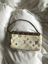 Louis Vuitton Murakami White Rainbow Mini Shoulder Vintage Bag