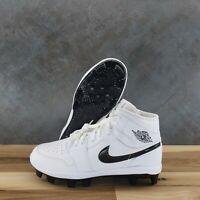 Nike Air Jordan 1 Retro MCS Baseball Cleats White/Black [Mens Size 8] AV5354-100