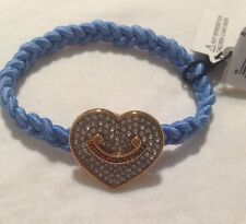 Juicy Couture Braided Hair Elastic, Pave Heart Charm