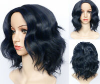 Short Wavy Bob Human Hair Full Lace Wig Glueless Lace Front Wigs Black Women UK
