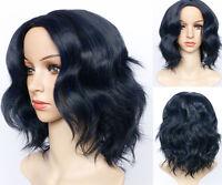 Short Wavy Bob Human Hair Full Lace Wig Glueless Lace Front Wigs Black Women UK