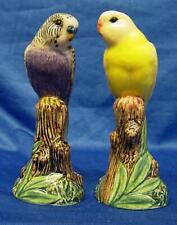 More details for quail violet & yellow budgerigar budgie salt & pepper pot condiment or cruet set