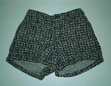 Old Navy Girls Boho Black Tan Adjustable Waist Band Shorts (Size 6 or 7 Reg)