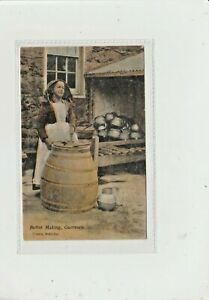 CHANNEL ISLANDS. BUTTER MAKING. GUERNSEY.