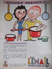 PUBLICITÉ 1956 L'ÉMAIL ACCORD PARFAIT ! DROPY - ADVERTISING