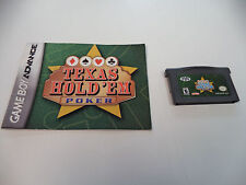 Texas Hold 'Em Poker for Game Boy Advance - GBA Cartridge & Manual Only!