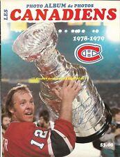 Yvan Cournoyer Auto Signed 1978/79 Photo Album Cover Montreal Canadiens Hof Gr8