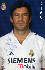 LUIS FIGO Signed Photograph - FOOTBALL Player Portugal & Real Madrid - preprint