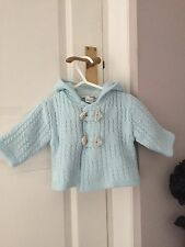 Baby Boys Designer Sarah Louise Knitted Jacket 0-3 Months Pale Blue