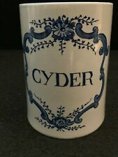 "WILLIAMSBURG REPRODUCTION Delft Mug/Stein ""CYDER"" 12oz Made In Holland 5"""