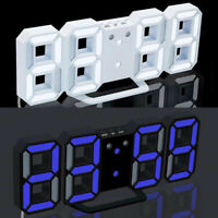 8-Shape 3D LED Modern Digital 12/24Hour Table Desk Alarm Clock Wall Decoration