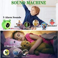 KE_ KQ_  LED Digital Display Alarm Clock With Night Light for Kids Sleeping Tr