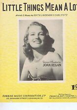 JOAN REGAN	Little things mean a lot	Sheet Music