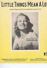 JOAN REGANLittle things mean a lotSheet Music