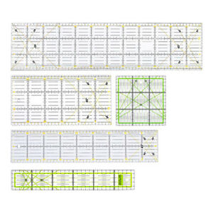 Patchwork Quilting Ruler Set 5 for Tailor Dressmakers Cutting Drawing Sewing