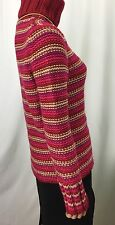 Gap Multi Color Striped Wool Blend Knitted Sweater Womens Size M