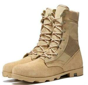 Mens Army Tactical lace up Combat Military Ankle Boots Desert Casual Shoes 2021