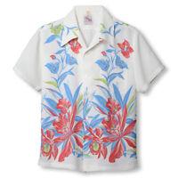 """Duke Kahanamoku Special Edition """"ORCHID AND PINEAPPLE"""" (White) Aloha Shirt"""