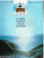 Publicité Advertising 1972 Parfum Fidji par Guy Laroche