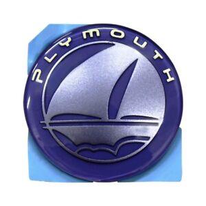 Iris Blue Plymouth Neon Emblem Decal Nameplate Logo Mopar OEM 99-96 OEM Badge
