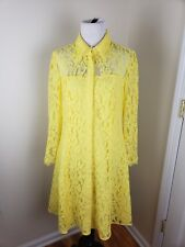 Nanette Lapore Lemon Meringue Spring Bloom lace dress