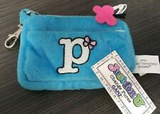 "Ganz Plush blue change purse initial ""P"""