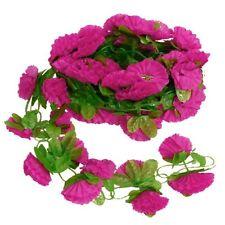 Artificial Garland Silk Flower Vine for Home Garden Decoration - Pink Red LW