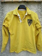 Maillot ASM CLERMONT vintage années 80 supporter collection coton jaune M