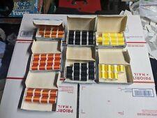 Vintage! Gudebrod size A rod wrapping thread orange, black, yellow 72 spools !