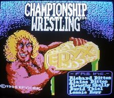 Commodore 64/128: CHAMPIONSHIP WRESTLING - C64 disk - TESTED - EPYX