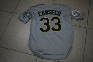 New!! Jose Canseco Gray Oakland A's Athletics Baseball Jersey Adult Men's XL