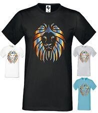 Herren Designer Löwe Mode T-Shirt Rundhals