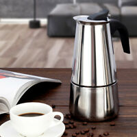 Stainless Steel Espresso Stove Top Coffee Maker Italian Percolator Pot 2/4/6 Cup