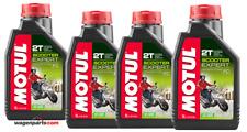 Aceite Moto Mezcla Premix 100% sintético MOTUL Scooter Expert 2T, pack 4 litros
