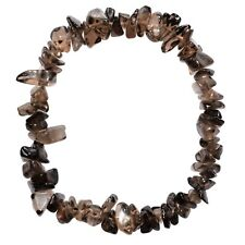 Premium CHARGED Smokey Quartz Crystal Chip Stretchy Bracelet REIKI Energy