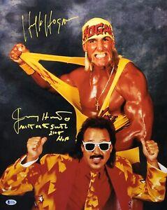"Hulk Hogan & Jimmy Hart Signed 16x20 Photo *Wrestling ""Mouth Of The South"" BAS"