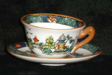 """VINTAGE CROWN STAFFORDSHIRE """"YE OLDE WILLOW"""" MINI / MINIATURE CUP & SAUCER MINT"""