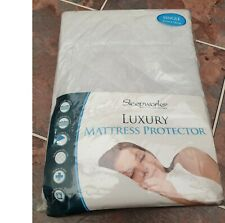 Sleepworks Quilted Luxury Mattress Protector Single Bed BRAND NEW